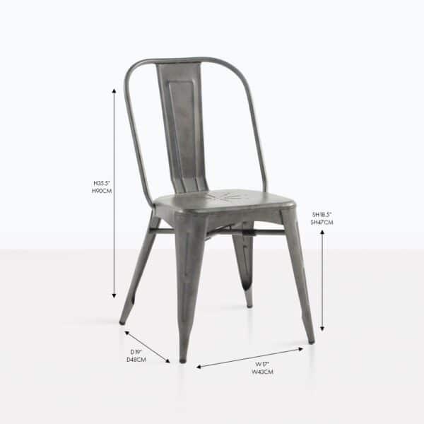 Alix aluminum dining chair