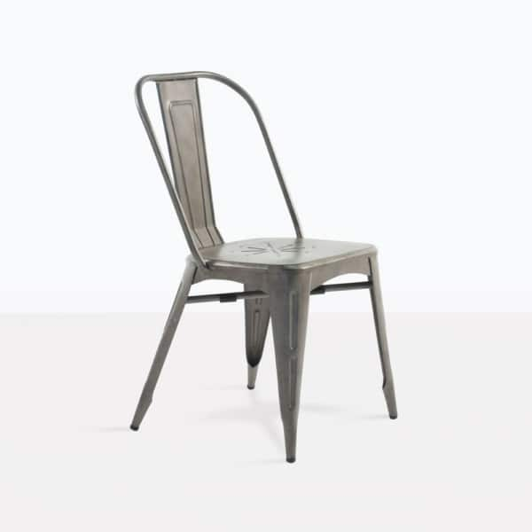 Alix Aluminum Dining Chair Side