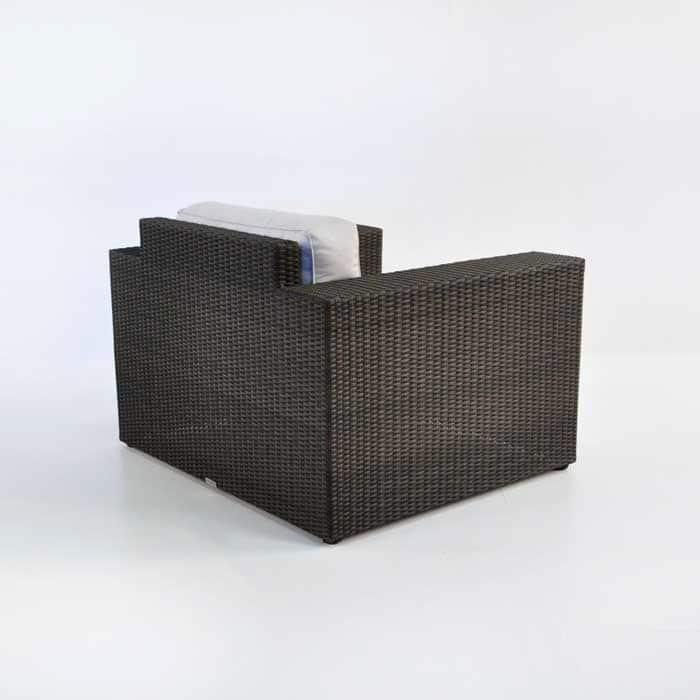 Austin Wicker Outdoor Club Chair Java Patio Furniture