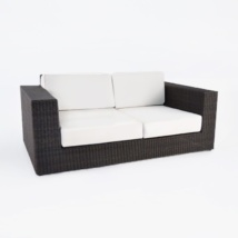 Austin Outdoor Wicker Loveseat (Java)-0