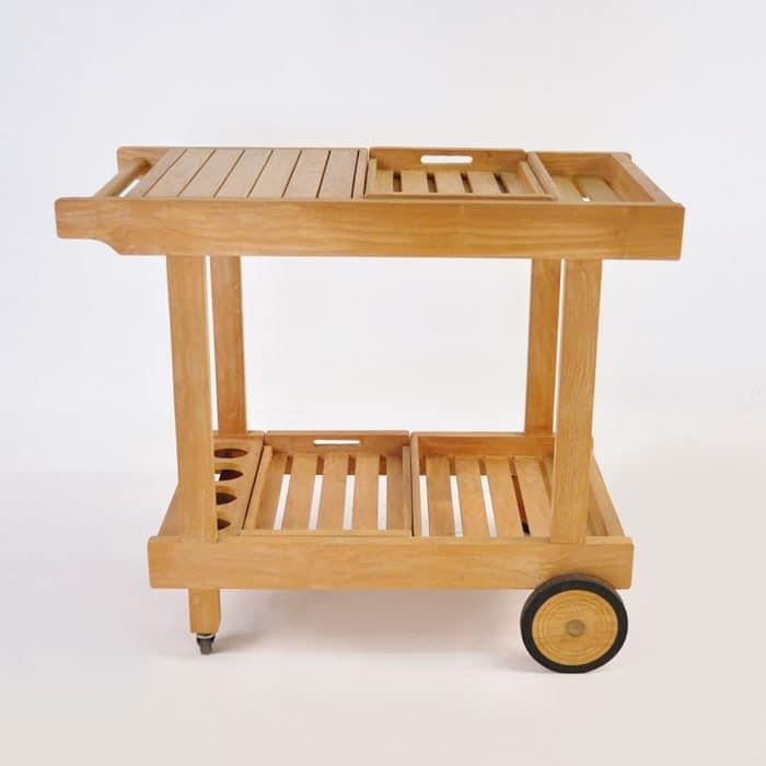 Teak Bar Cart Outdoor Bar Furniture Pub Accessory