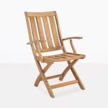 Bella Teak Outdoor Dining Arm Chair-0