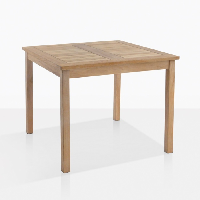 Bistro Teak Square Dining Table