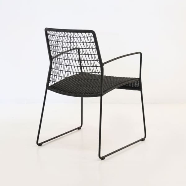 contemporary wicker dining chair