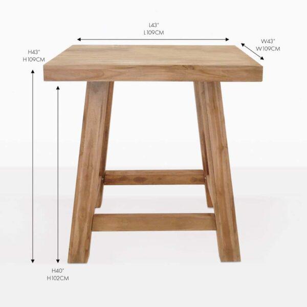 blok teak bar table
