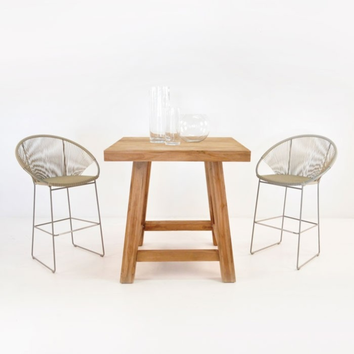 Blok Table and Pietro Chairs Bar Dining Set-0