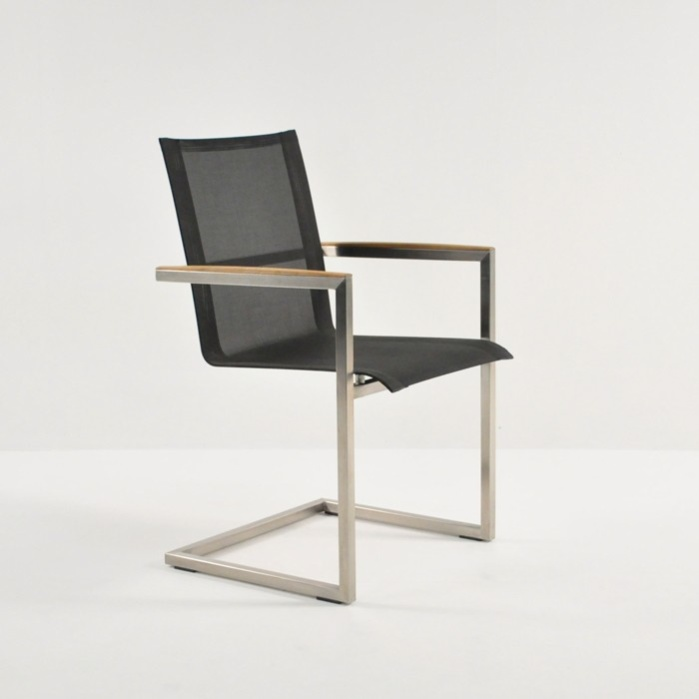 Bruno Stainless Steel Dining Chair (Black)-0