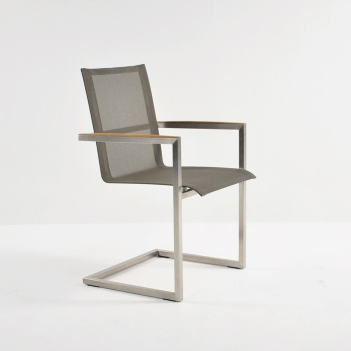 Bruno Stainless Steel Dining Chair (Taupe)-0