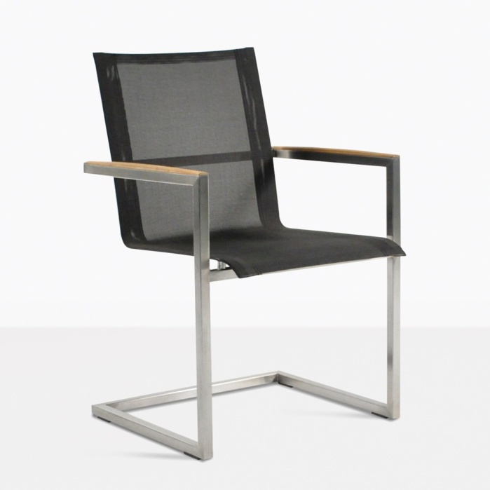 bruno teak dining chair black angle