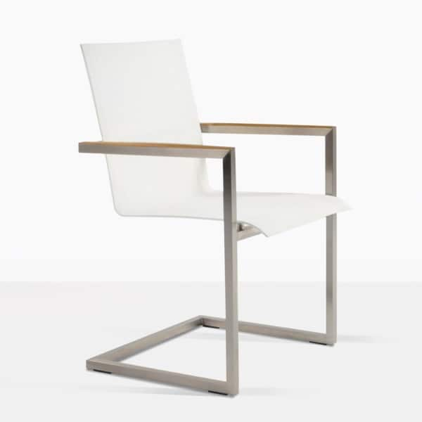 bruno teak dining chair angle white