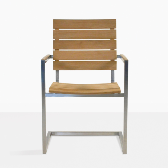 ... Bruno Teak And Stainless Steel Outdoor Dining Chair. U201c