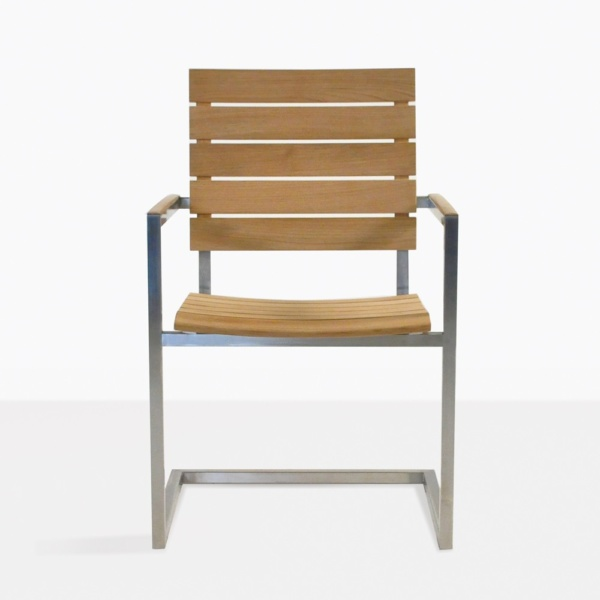 Bruno Teak And Stainless Steel Outdoor Dining Chair