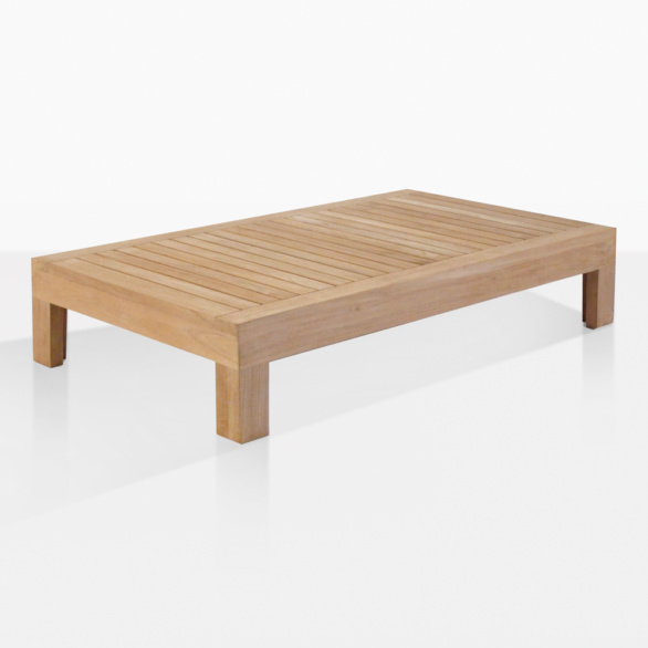 Cabo Teak Rectangle Outdoor Coffee Table