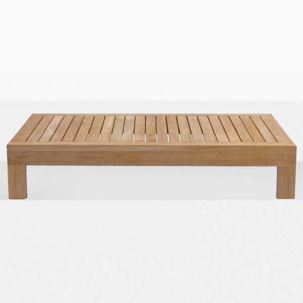 Cabo Rectangular Teak Outdoor Coffee Table
