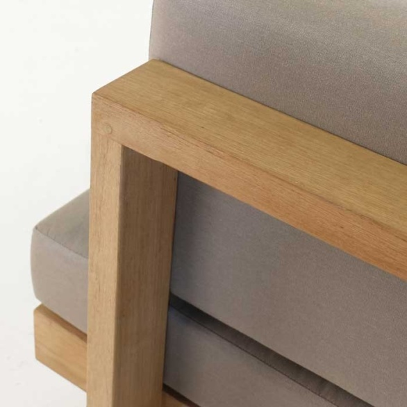high qualilty teak furniture closeup image