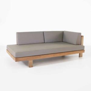 teak sectional left arm sofa