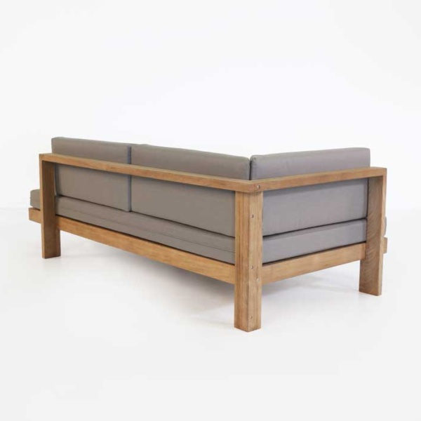 a-grade teak daybed back view