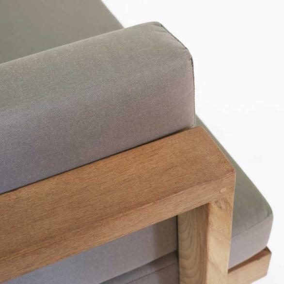 a-grade teak sofa closeup image