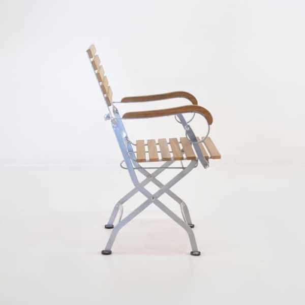 cafe teak folding chair-2