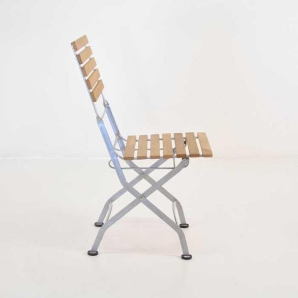 teak cafe folding side chair