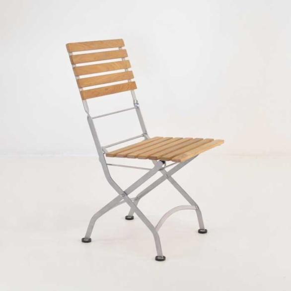 Café Teak Folding Dining Side Chair-0