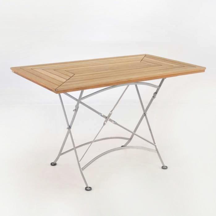 Cafe Rectangle Teak Folding Table-0