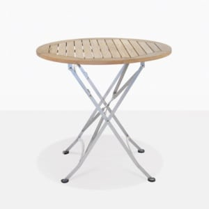 Café Round Teak Folding Table