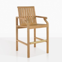 Capri Teak Bar Stool With Foot Rest