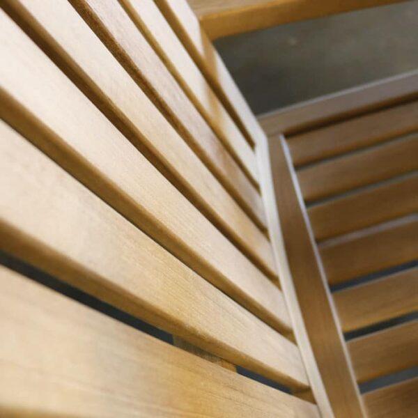 capri counter stool closeup view
