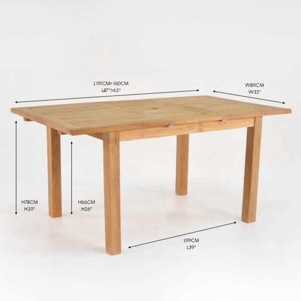 capri rectangle single extension
