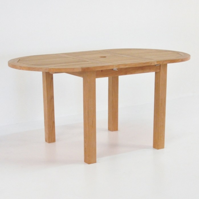 Capri Oval Teak Extension Outdoor Dining Table Teak Warehouse - Teak oval extension dining table
