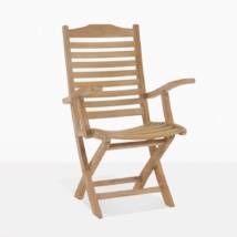 Cardive Teak Folding Dining Arm Chair