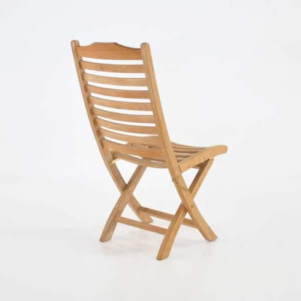 cardive teak folding dining chair back view