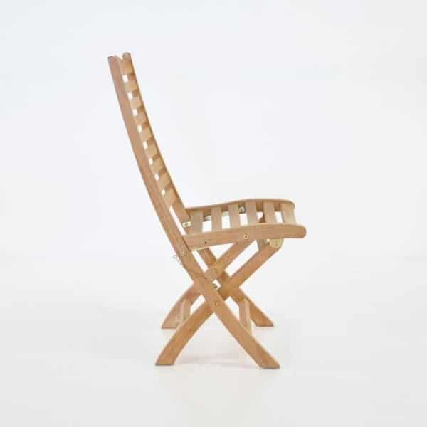 cardive teak folding dining chair side