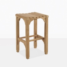 Classic Teak Backless Bar Stool