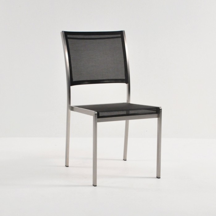 Classic Batyline Stacking Dining Chair (Black)-0