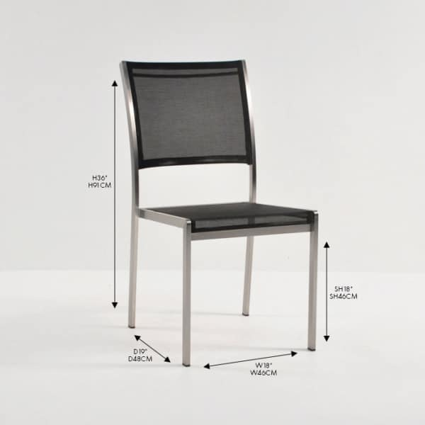 classic black batyline stacking chair