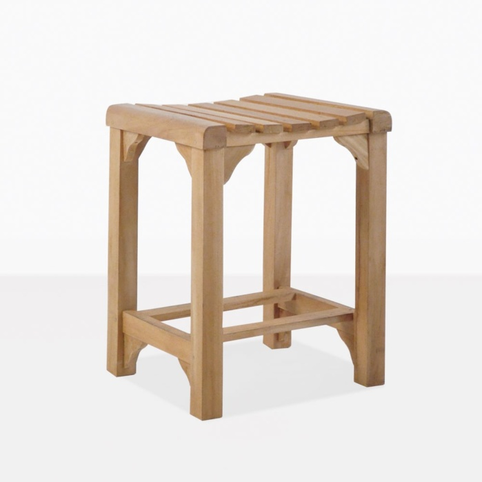 Classic Teak Backless Counter Stool
