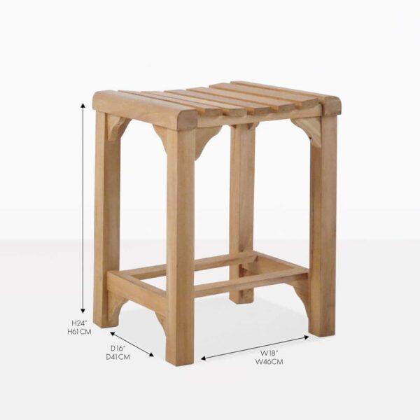 classic teak counter stool