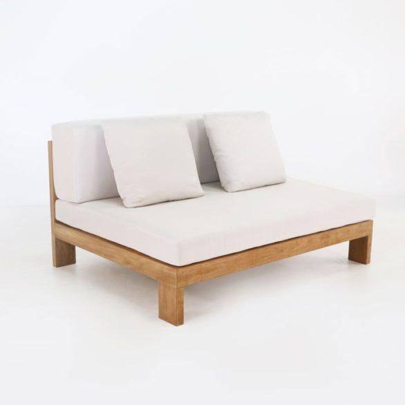 Coast Teak Outdoor Sectional Armless Chair (Center)-0