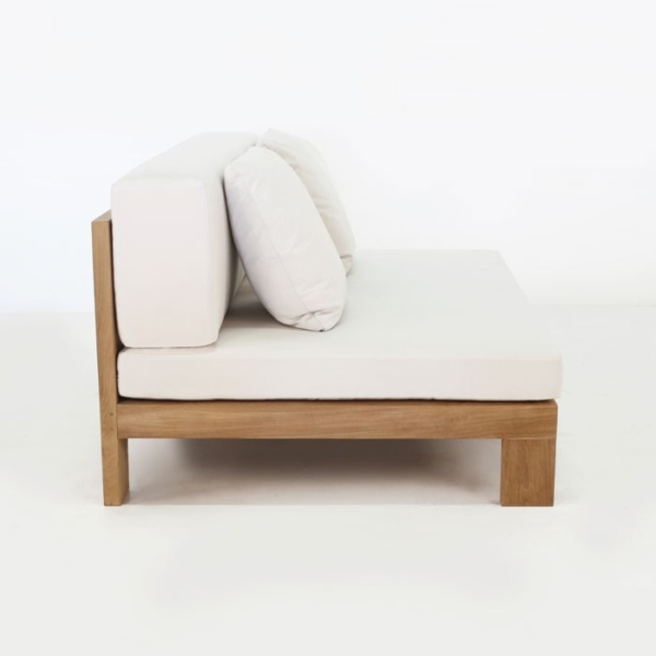 outdoor teak chair without arms