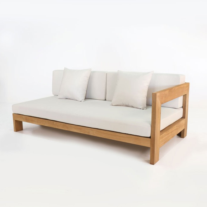 Coast Teak Amp White Daybed Left Sun Beds Chaise Lounge