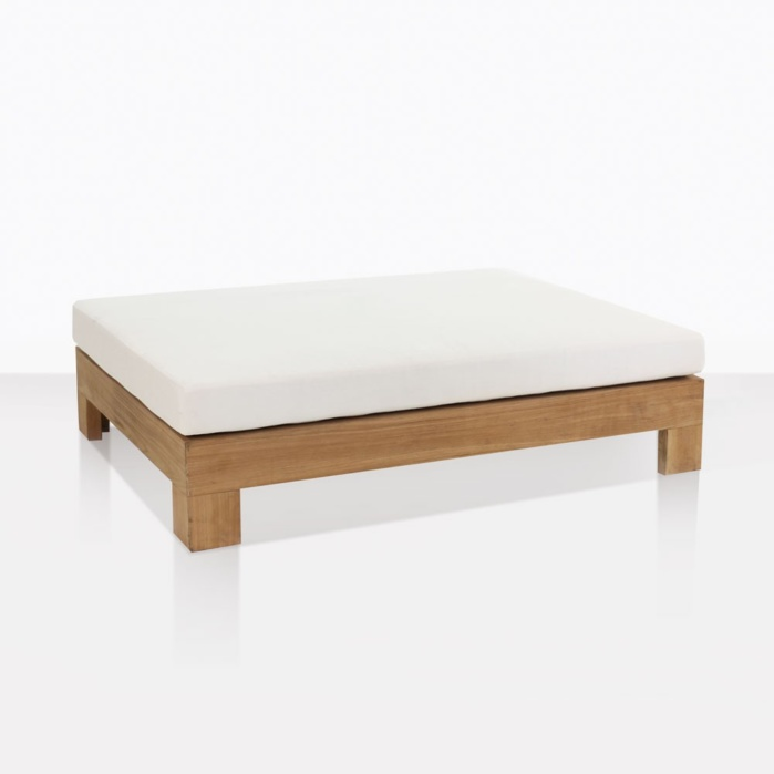 Coast Teak And Sunbrella Ottoman