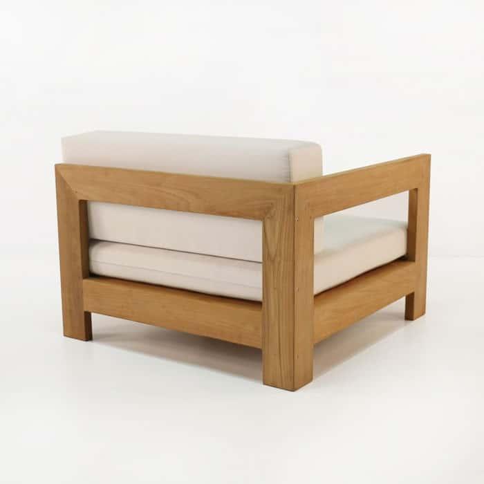 coast teak outdoor sectional end piece left right teak. Black Bedroom Furniture Sets. Home Design Ideas