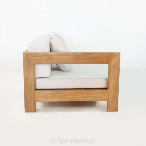 teak outdoor right arm daybed