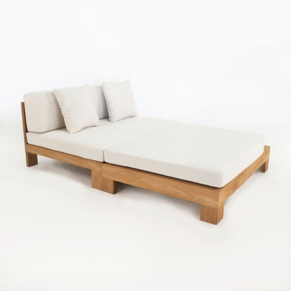 Coast Teak Chaise Lounge-0