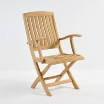 Como Teak Folding Dining Arm Chair-0