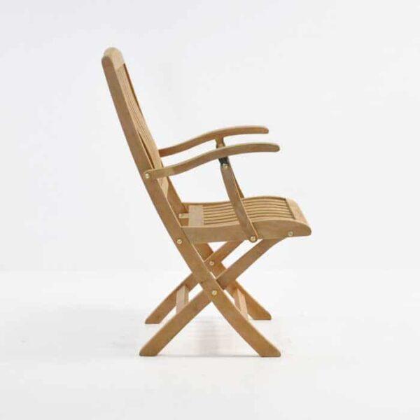 como folding armchair side view