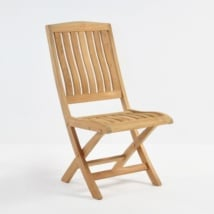 Como Teak Folding Dining Side Chair-0