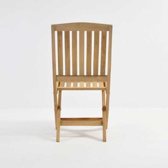 Como Teak Folding Dining Side Chair-3742